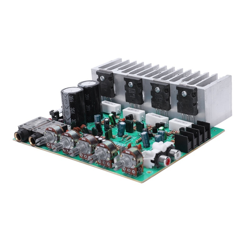 Audio Amplifier Board Hifi Digital Reverb Power Amplifier 250W X 2 2.0 Audio Preamp Rear Amplification With Tone Control E3-00