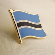 Soft Enamel Botswana Flag Lapel Pins