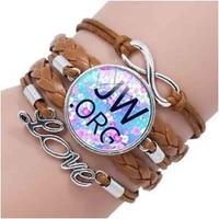 2018 new jw org bracelet jw purple fashion handcraft bracelet jw blue handmade photo cabochons