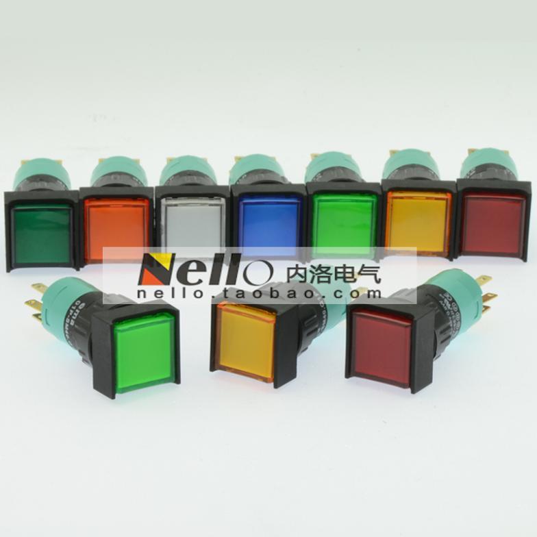 [SANY] 수입 EMA 16mm 조명 푸시 버튼 스위치 자체 리셋 01P-SM40.Q1P 정사각형 LED 1C / O--10PCS/LOT
