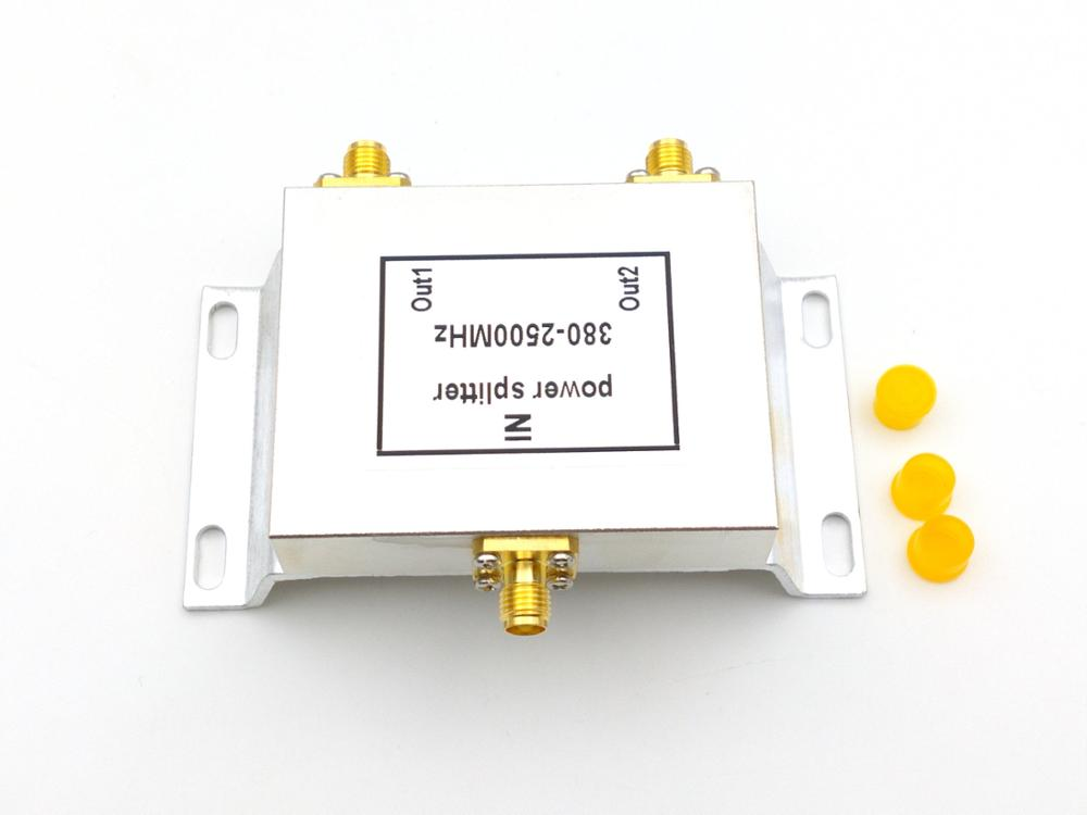 2 maneiras impulsionador SMA Power Splitter (380-2500 MHz) adaptador SMA power divisor impulsionador acessório