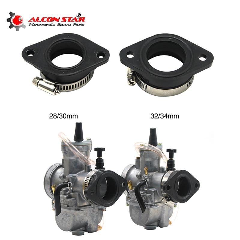Alconstar For KEIHIN KOSO OKO PWK 21/24/26/28/30/32/34mm Motorcycle Carburetor Joint Intake Adjuster Interface Carb Adapter