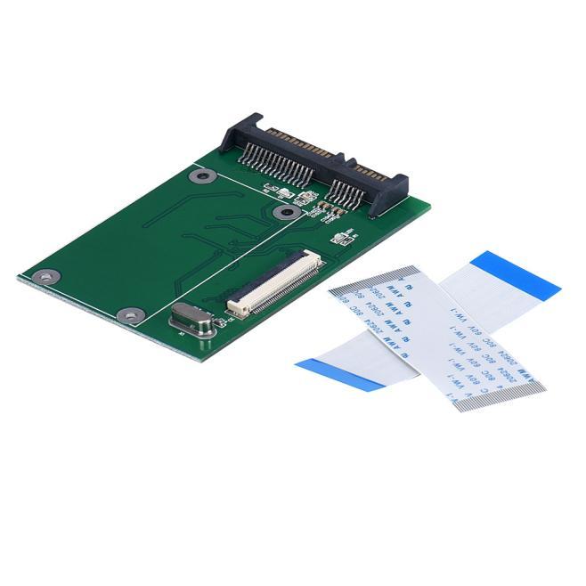 Alta calidad, 40 Pines, ZIF/ CE, 1,8 pulgadas, SSD/HDD a SATA, tablero convertidor adaptador macho