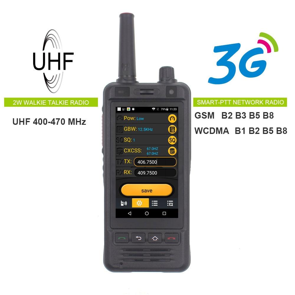 Anysecu W5 Netzwerk Radio 3G Android 6.0 Handy IP67 5000mAh PTT Radio UHF Walkie Talkie Bluetooth Wifi GPS ECHT PTT ZELLO