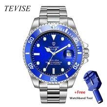 relojo mascuino TEVISE Quartz Men Watch Calendar Luxury Waterproof Watches Man Business Watch Wrist