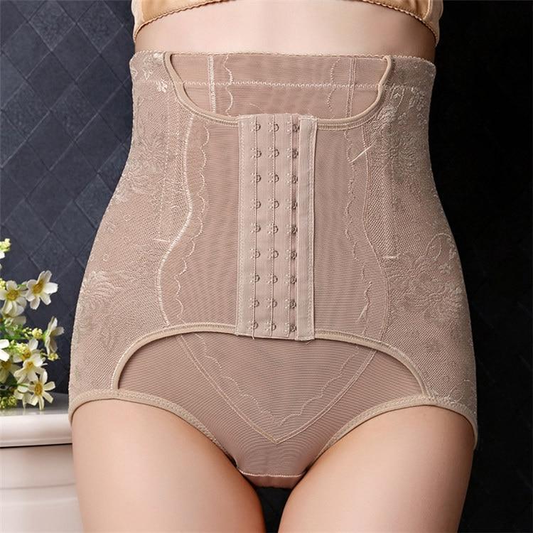 Women's belly pants hip shaping high waist buckle underwear women's postpartum body belly pants flat belly, multi-color optional
