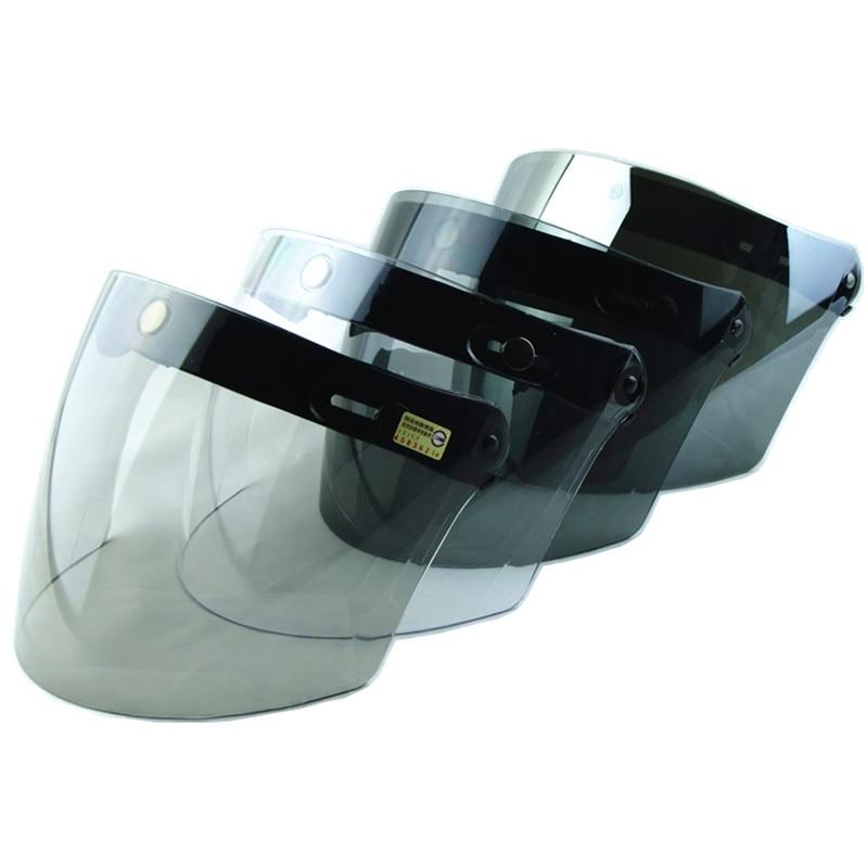 Free shipping 3-snap Lens For Retro Scooter Motorcycle Helmet  Open Face Helmet Vintage Helmet Visor Capacete