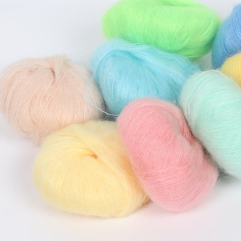 25g/Super suave felpa fina lana para Crochet tejer a mano fina Mohair...