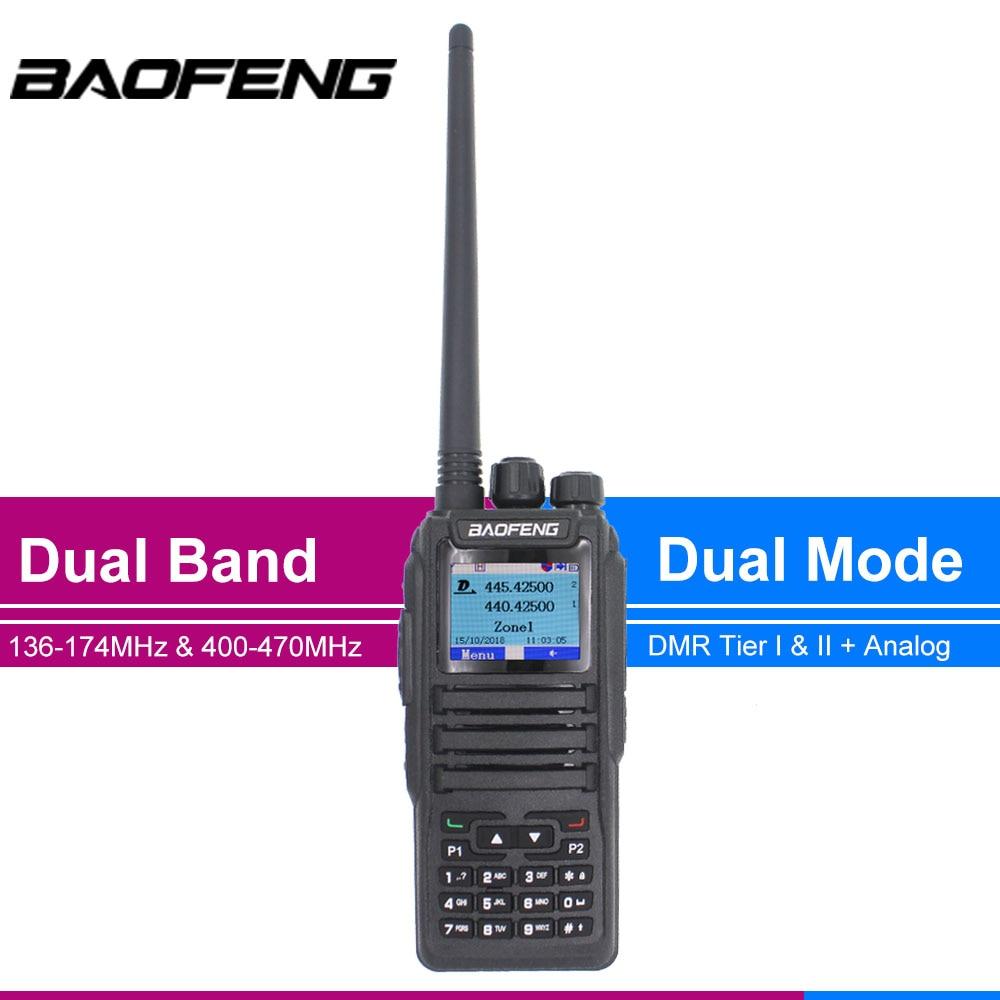 Baofeng DM-1701 DMR راديو يده واكي تاكي محمول رقمي اتجاهين جهاز الإرسال والاستقبال اللاسلكي 136-147MHz 400-470 MHz