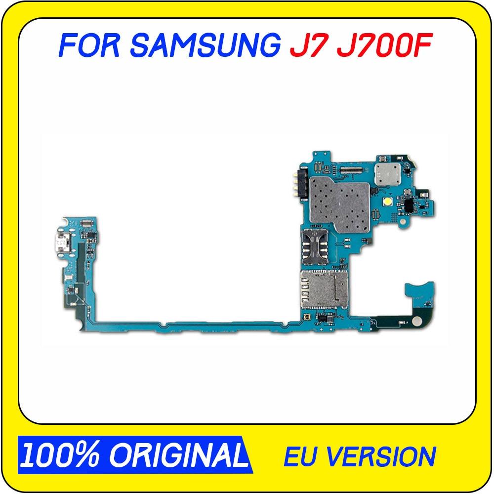 Placa base Original desbloqueada para Samsung Galaxy J7 J700F con Chips completos