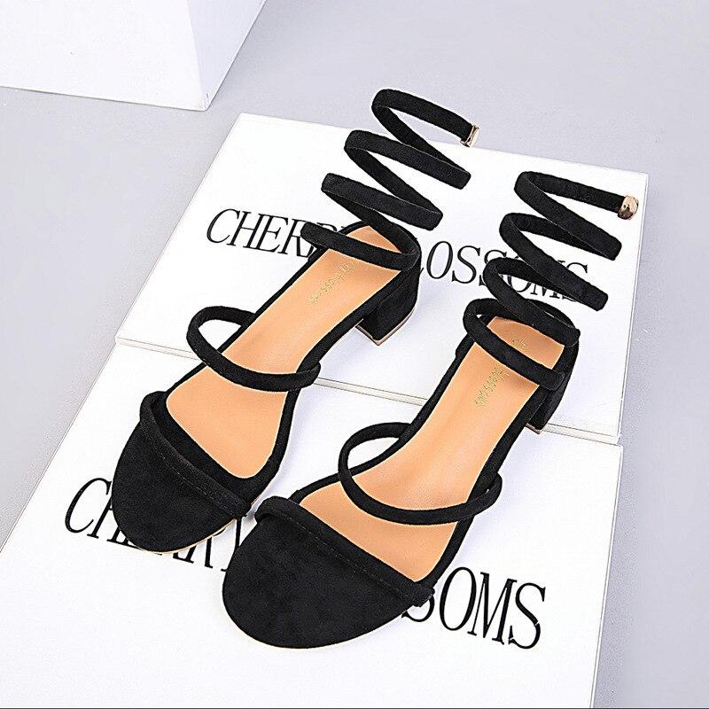 Sapatos femininos apontou toe bombas rebanho vestido de salto grosso oco 4.5cm finos saltos altos sapatos de barco básico