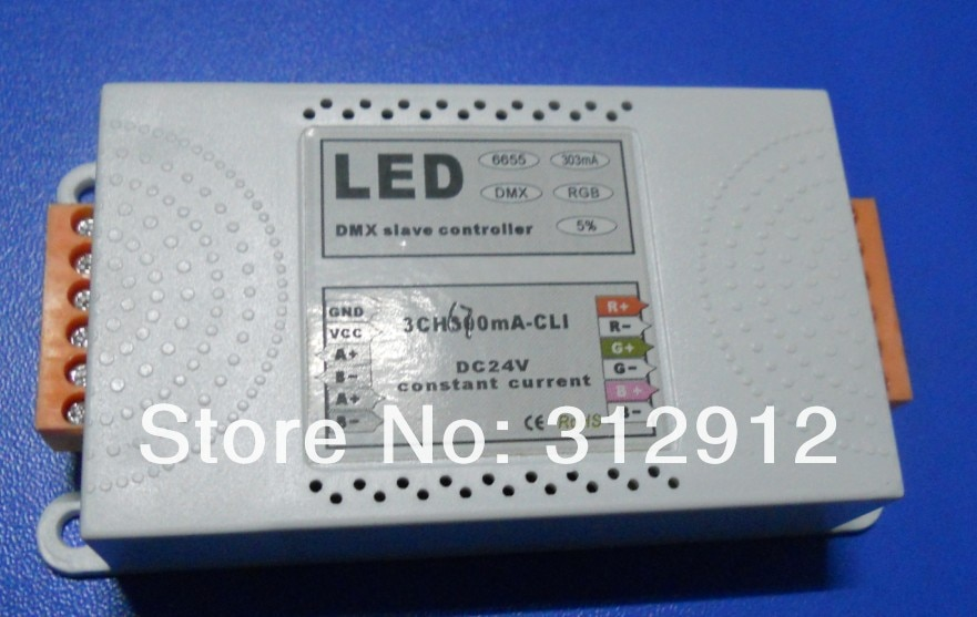 3channel dmx constant current decoder,DC12-24V input,700ma*3 channel output