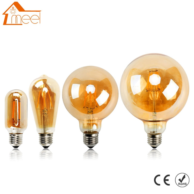 E27 bombilla Led, lámpara antigua Retro Vintage, Edison, 4W, 6W, 8W, filamento...