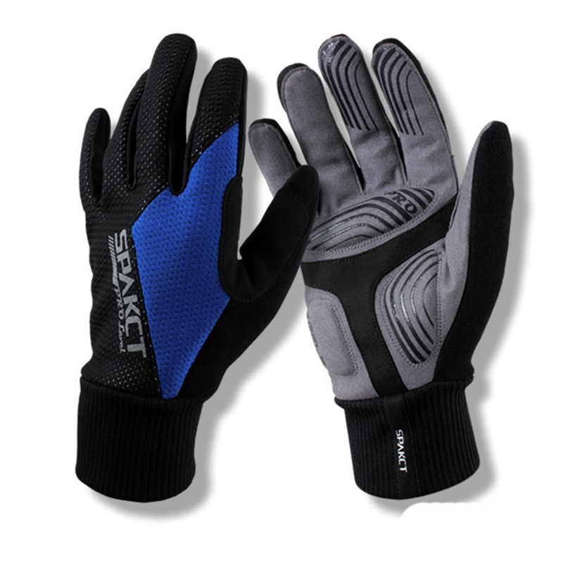 SPAKCT Thermal Skiing Gloves Full Finger Anti-Slip Snow Waterproof Sportswear Gloves Men Women Snowboard Mulit Warmer Gel Gloves