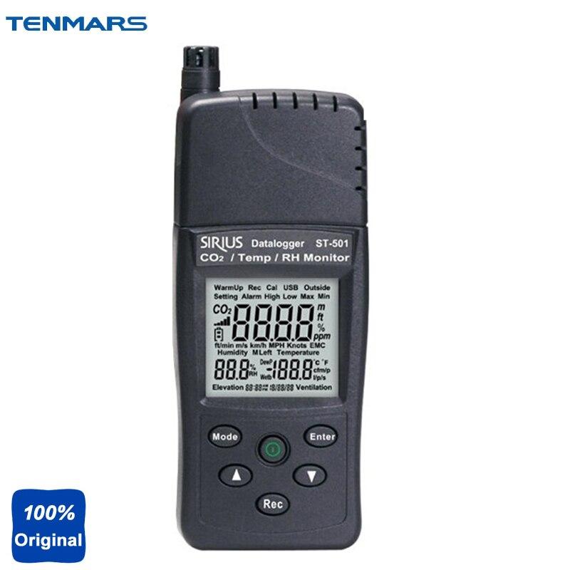 Analisador de Gases em Contato com Co2 Temperatura Umidade Sensor Infravermelho St501 Co2