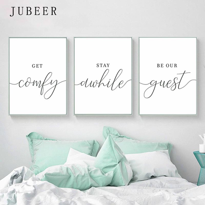 Conjunto de 3 carteles de habitaciones de arte de pared de estilo escandinavo con impresiones en lienzo blanco y negro cuadros de decoración de dormitorio