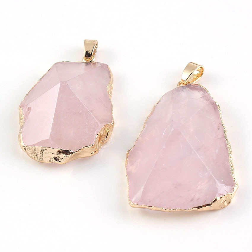 Крафт-бисер, уникальный светло-желтый золотой цвет, неровная форма, камень, горный Кристальный кулон, натуральный розовый кварцевый кристал...