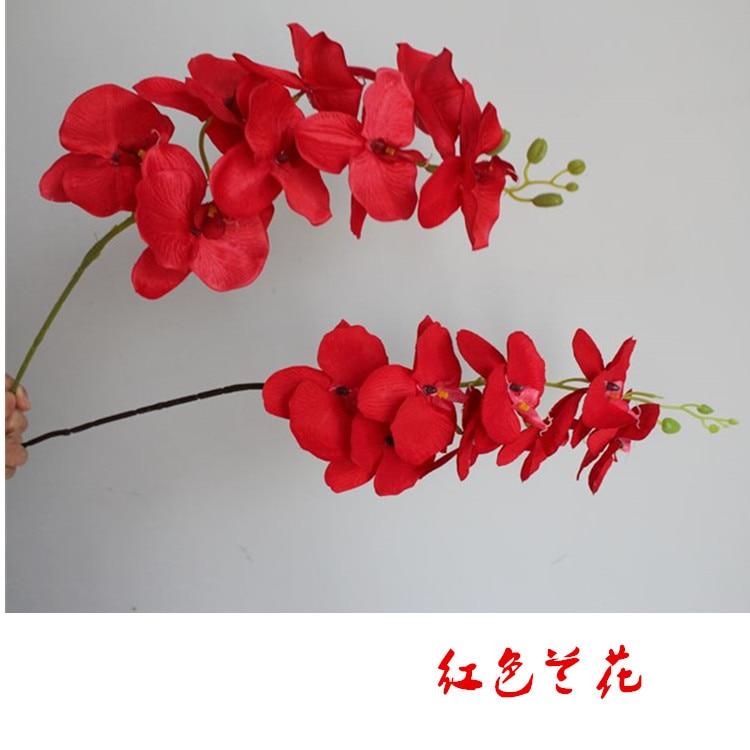 10 unids/lote 108 cmtallo único falso Vanda Phalaenopsis oncidio Moth orquídea para boda hogar flores decorativas artificiales