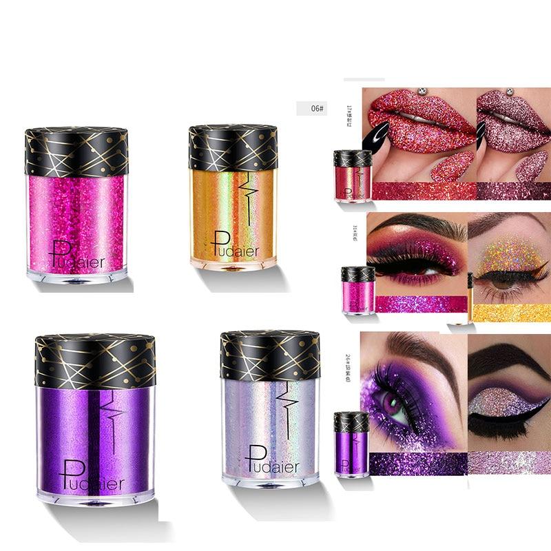 Pudaier Glitter Oogschaduw Pigment Waterdicht Gezicht Lip Nail Make Sombras para Ojos Oogschaduw Shimmer Ombre een Paupiere Blijvende