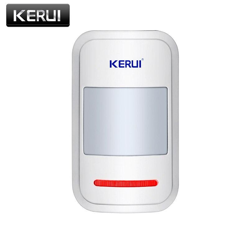 KERUI, Sensor inalámbrico de 433mhz PIR, Detector de movimiento para GSM PSTN, sistema de alarma antirrobo de seguridad para el hogar, protección para el hogar