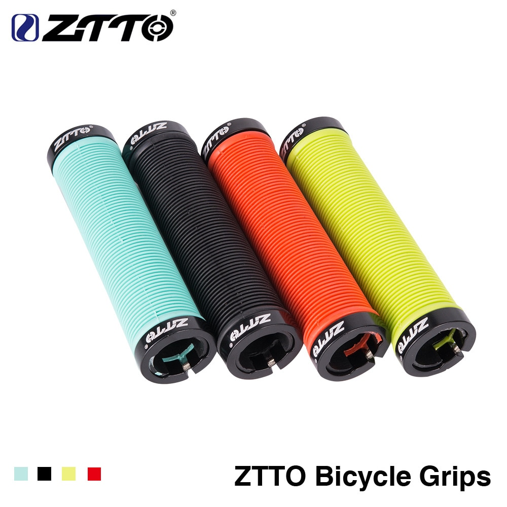ZTTO 1 Paar Silikon Anti-kollision Anti-skid Lenker Set Mountainbike Klapp Fahrrad Griff Set Durable Grip fahrrad Teile