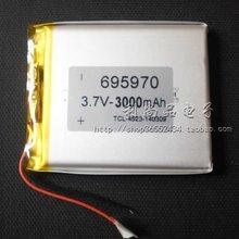 Charging Po batteries 3.7V lithium polymer battery 3000mAh GPS navigation logger 706,070