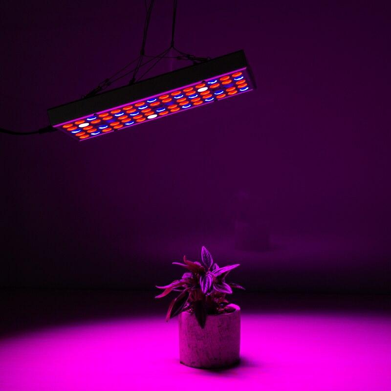 Luz LED de espectro completo para cultivo de plantas 85-265V 25W 75leds Panel rectangular lámpara UV iluminación IR para plantas de invernadero crecimiento interior
