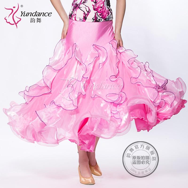 Promoción señora baile de salón falda vestido de baile moderno mujeres Valse vestido Tango Galop Fox Trot Social Dance vestido B-2642