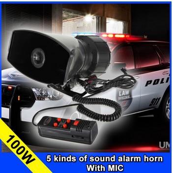 UDMJ-صفارة إنذار بوليسية ذات 5 نغمات ، 12 فولت ، 100 واط ، للسيارة ، الدراجة النارية ، شريط مكبر الصوت ، نظام مكبر الصوت ، الميكروفون ، بالجملة