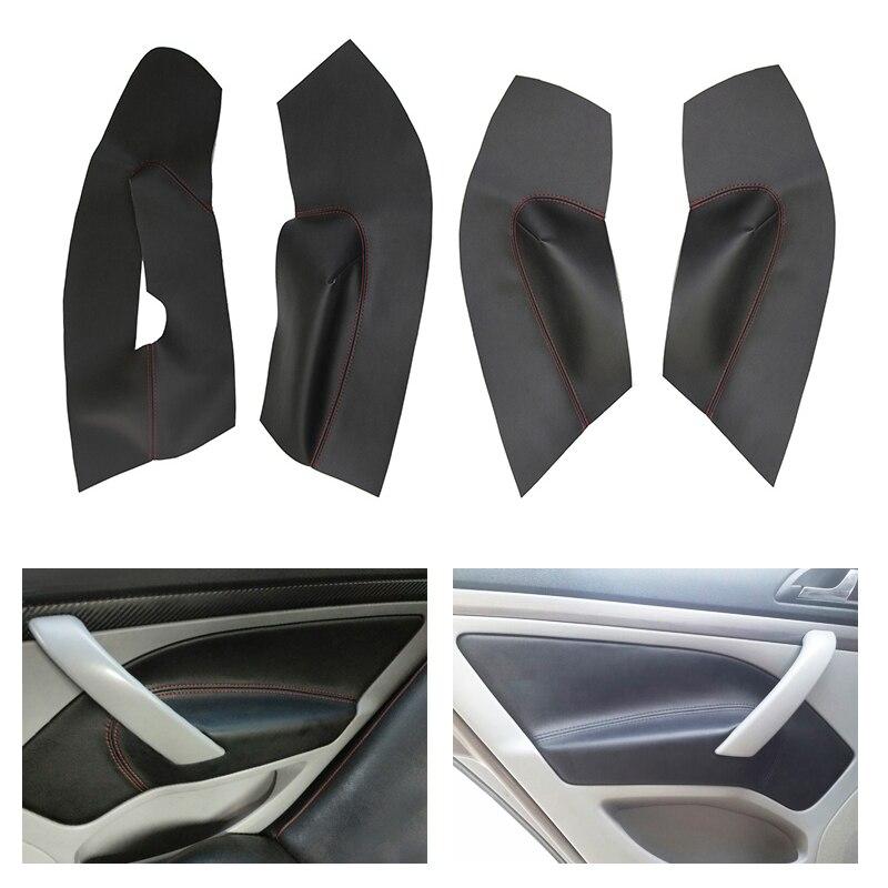 Reposabrazos de cuero de microfibra, cubierta protectora de Panel de puerta de coche para Skoda Octavia 2007 2008 2009 2010 2011 2012 2013 2014
