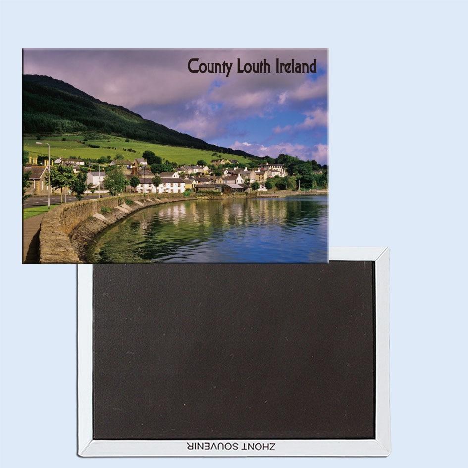 Carlingford, Cooley Peninsula, County Louth, Ireland, imán de nevera, recuerdos turísticos, ornamentos creativos para el hogar 24681