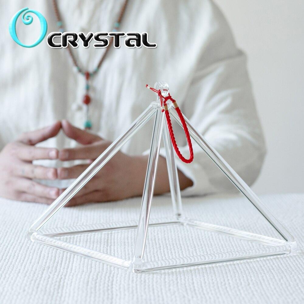 7-дюймовая кварцевая кристальная Поющая пирамида для звуковой терапии