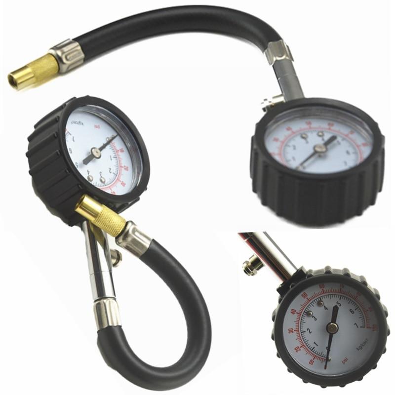 Универсальный Автомобильный датчик давления в шинах, датчик давления для автомобиля, грузовика, мотоцикла, гибкий шланг, манометр, измеритель давления, автомобильный тестер