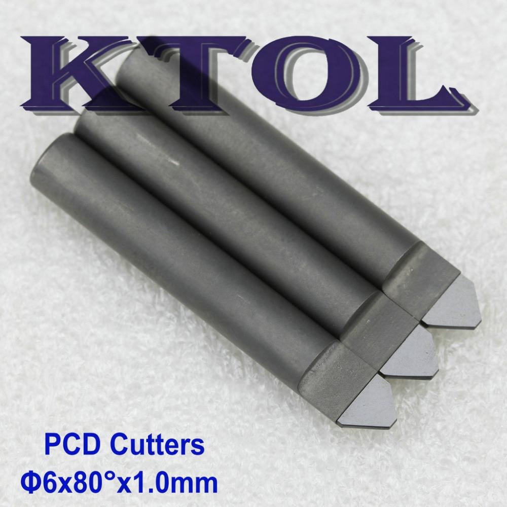 80 grados 6x1,0 MM V fresa de diamante CNC herramientas de grabado para granito piedra superior PCD grabado Router Bit CNC fresa
