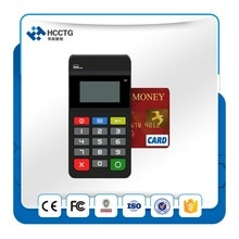 Bluetooth mobile POS support NFC + IC + carte à bande magnétique avec clavier daffichage du fournisseur de porcelaine HTY711