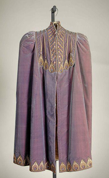 Noche cabo diseñador ropa medieval vestido victoriano Vestido de satén