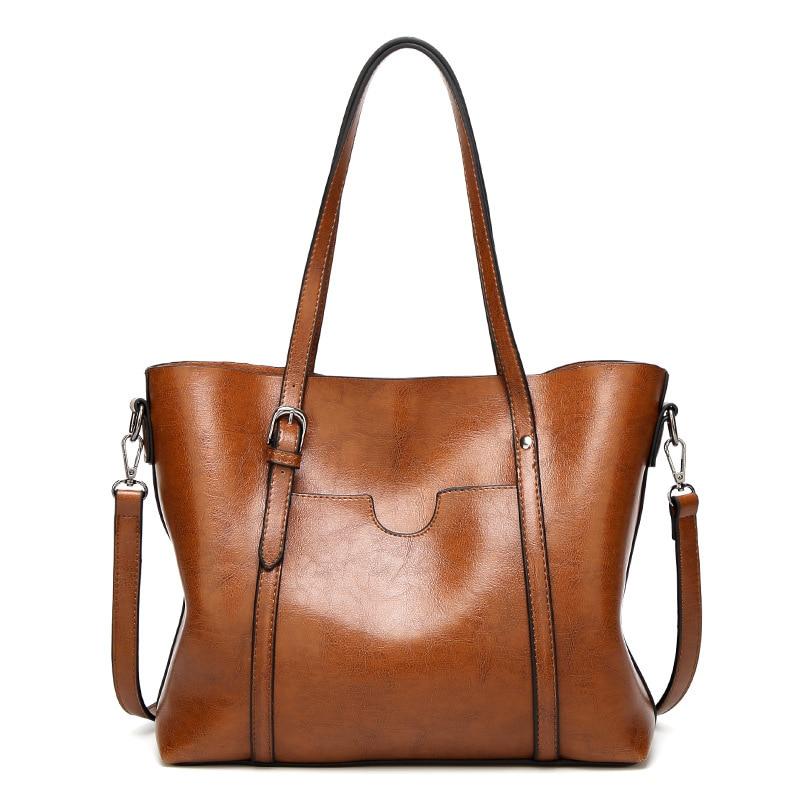 Mulheres saco de Luxo Bolsas de Couro das Mulheres de cera de Óleo Sacos de Mão Da Senhora Com Bolsa Bolso Mulheres mensageiro saco Grande Tote sac Bols A300