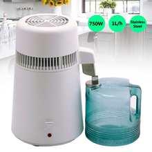4L 750W 220-240V destilador de agua pura para el hogar, máquina de filtro, equipo purificador de destilación, jarra de plástico de acero inoxidable