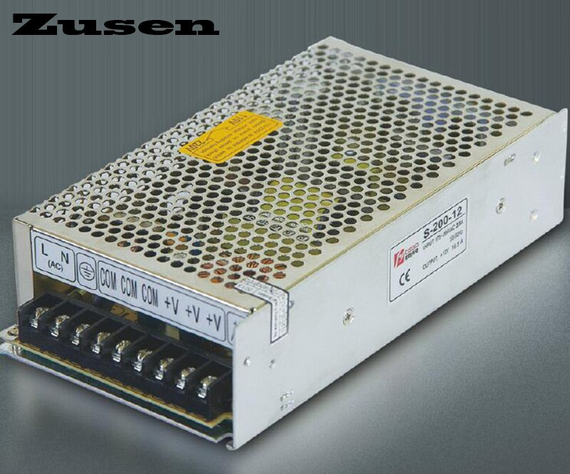 Zusen S-200W 5V 12V 15V 18V 24V 36V 48V Одиночный импульсный источник питания