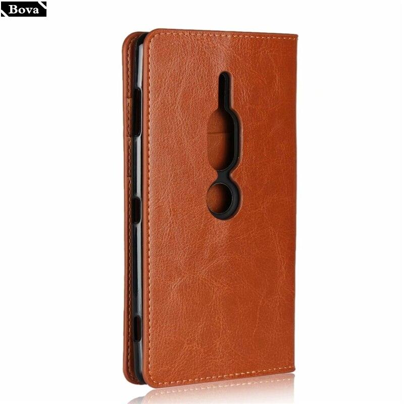 Deluxe Cassa Del Raccoglitore Per Sony Xperia XZ2 Premium Custodia in pelle Della Copertura di Vibrazione Del Telefono fondina per Sony XZ2 Premium pouch