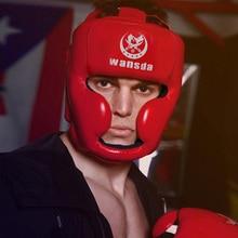 Closed Type Boxing Helmet Head Protector for Taekwondo Karate Tai Kickboxing Competition Training Boxing Helmet Free shipping