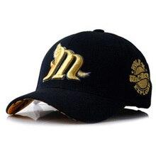 Chapeau de couple brodé loup coréen unisexe   Casquette ajustable, casquettes de Baseball, nouveau