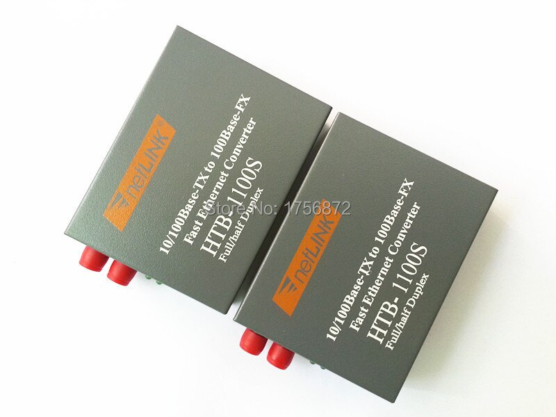 HTB-1100S Óptica Media Converter 10/100 Mbps RJ45 Single Mode Fiber Duplex FC porto Conversor 25 KM