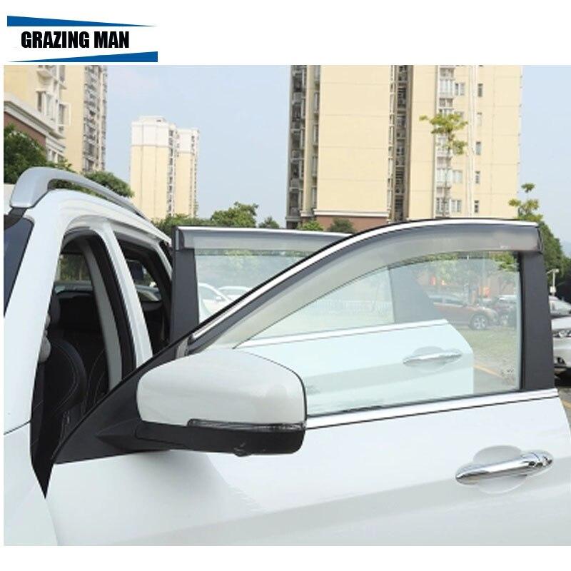 Pala de sol de Alta qualidade PP material Janela do carro Da Viseira Deflector de Vento Sol Guarda Chuva Defletor para RAV-4 2009-2013
