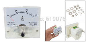 85L1-A Class 2.5 Accuracy AC 0-30A Analog Panel AMP Meter Ammeter