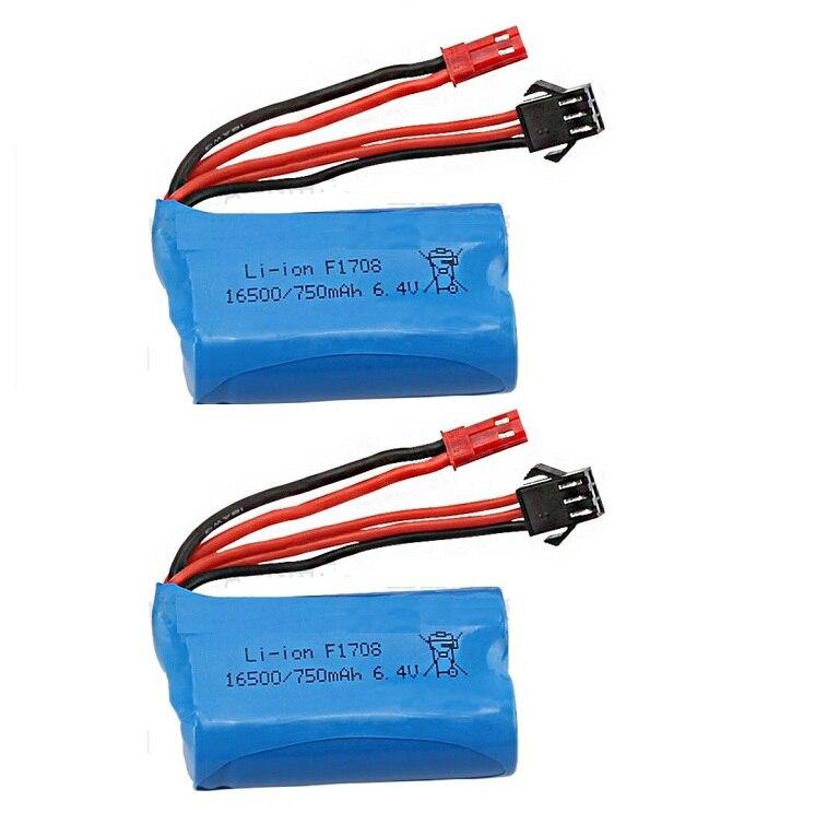 Wltoys 6.4v 750mAh Li-polímero bateria para wltoys A959-A A969-A A979-A K929-A caminhão do RC
