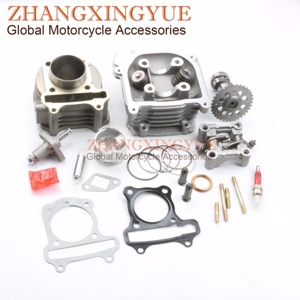 80cc gran cilindro de rendimiento Kit y 9 agujero leva & tensor & balancín Assy para GY6 50cc 139QMB China Scooter partes 47mm agujero