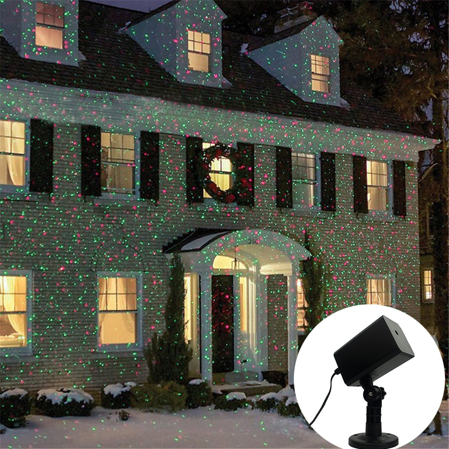 Outdoor Garden Lawn Stage Effect Light Full Sky Star Red & Green Laser Projector Light Landscape Christmas Party Decorative Lamp outdoor solar garden lawn stage effect light fairy sky star laser projector waterproof landscape garden christmas decor lamp