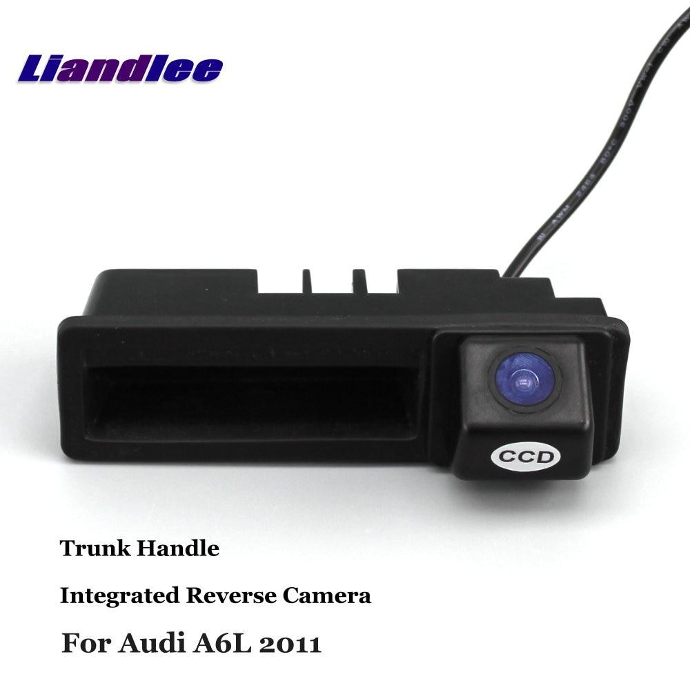 Liandlee для Audi A6L 2011 2012 2013 2014 Автомобильная камера заднего вида резервная камера заднего вида интегрированная ручка багажника
