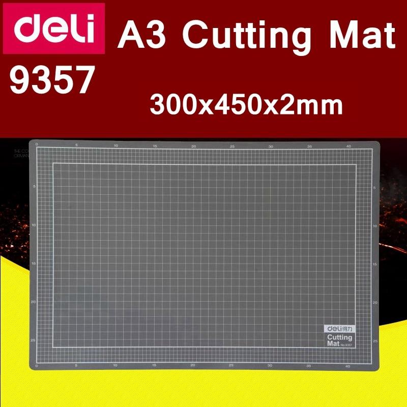 Deli-حصيرة قطع الورق ، حصيرة PVC ذاتية الشفاء ، A3 ، 9357 × 450 × 2 مم